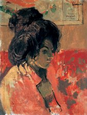 Walter Richard Sickert La Giuseppina against a Map of Venice 1903-1904 Oil on canvas