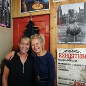 Sirkka-Liisa Konttinen reunited with Jackie Tait (the 'Spacehopper'), September 2016