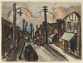 Josef Herman Sketch of street