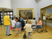 Soapbox group discussing the theme of beauty in the Turner Galleries at Tate Britain