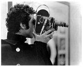 Warren Sonbert with his film camera