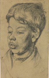 Sketch of Stanley Spencer's brother Gilbert, from one of the artist's sketchbooks, c1919–27