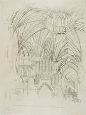 Stephen Farthing After Turner Ely Cathedral: The Interior of the Octagon 1794