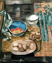 Frances Hodgkins Still Life with Eggs and Mushrooms