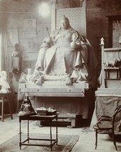 Model of Queen Victoria's statue in George Frampton's studio (before 1902)