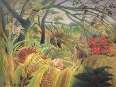 Henri Rousseau Tiger in a Tropical Storm