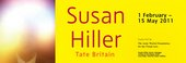 Susan Hiller exhibition banner