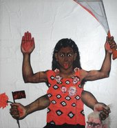 Sutapa Biswas, Housewives with Steak-Knives 1985