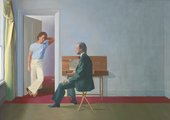 David Hockney's George Lawson and Wayne Sleep 1972-5