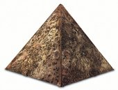 Taheya Halim The Pyramid the Civilization Symbolism Through Ants c1960s brown pyramid sculpture