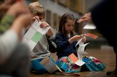 Kids enjoying pick-up activities at Tate Britain