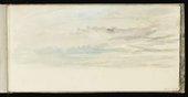 Study from J.M.W. Turner's Skies Sketchbook, 1816–18