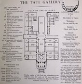 Plan of Tate Gallery in 1958