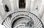 Aerial view of the staircase at Tate Britain