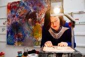 Lucy Stein Studio Visit, Photo: Ian Kingsnorth