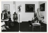 Poet David Gascoyne during the poetry reading in The Muses Meet programme 1987