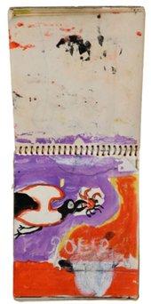 Graham Sutherland Untitled, lyre bird in flight; spread from sketchbook