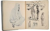 James Boswell Untitled, six studies of men and boys from a sketchbook covering Boswell's posting to Iraq 1942–3 Ink on paper; sp
