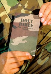 The Bible in the US woodland camouflage pattern first introduced in 1989