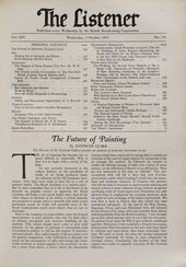 Kenneth Clark, 'The Future of Painting', Listener, 2 October 1935