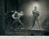 Robert Thew after Henry Fuseli Hamlet, Horatio, Marcellus and the Ghost