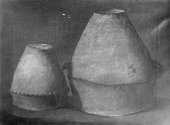 Thomas Guest Two Bronze Age urns [now in Ashmoleum] excavated from barrows at Winterslow, Wiltshire 1814