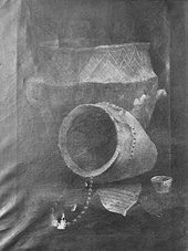 Thomas Guest Two biconical urns from a barrow in Winterslow 1814