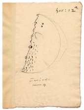 Thomas Harriot's drawing of the moon 1611