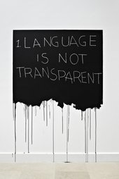 Mel Bochner  Language Is Not Transparent 1970