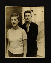 A photograph of Elisabeth Frink and Joe Tilson