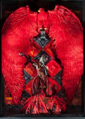 Alexander McQueen on display in the windows of the New York department store Bergdorf Goodman in 2011