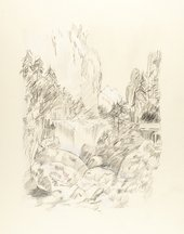 Tony Rodgers After Turner from Grenoble Sketchbook [Finberg LXXIV], Cascade of the Chartreuse 1802