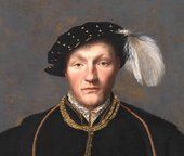 British School? Portrait of a Gentleman, probably of the West Family c.1550