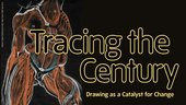 Exhibition banner for Tracing the Century: Drawing as a Catalyst for Change, an exhibition at Tate Liverpool 16 November 2012 – 20 January 2013