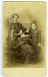 Archive art and access Mounted photograph of Henry Scott Tuke as a boy
