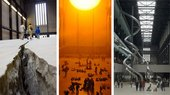 Doris Salcedo's Shibboleth, Olafur Eliasson's The Weather Project and Carsten Holler's Test Site