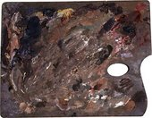Turner's 'Chelsea' palette, used at the end of his life