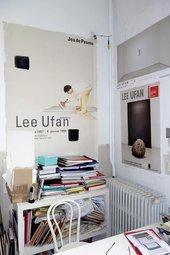 A corner of Lee Ufan's Paris studio, February 2014