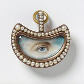 Unknown An Eye in a crescent shaped setting c.1800
