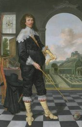 Unknown artist (Style of the C17th British School) Richard Mayall Oil on Canvas, from Rory Macbeth essays
