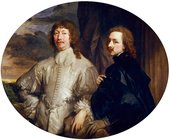 Anthony Van Dyck Self-Portrait Van Dyck with Endymion Porter 1633 oval portrait depicting two men in their finery