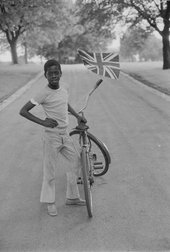 Vanley Burke The Boy with the Flag c.1970-79