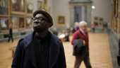 Singer / songwriter Ghostpoet in a gallery at Tate Britain