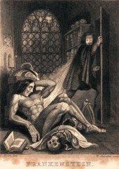 Theodore Von Holst Frontispiece to Mary Shelley, Frankenstein