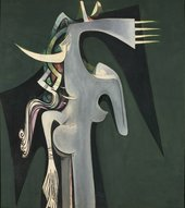 Image of Wifredo Lam's Horse-Headed Woman painting from 1950