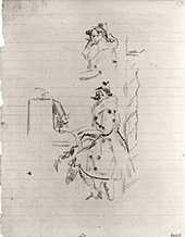 Walter Richard Sickert Sketch for 'Brighton Pierrots' 1915