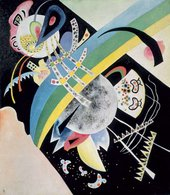 Wassily Kandinsky Circles on Black 1921