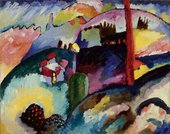 Wassily Kandinsky Landscape with Factory Chimney 1910