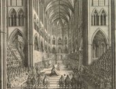 Wenceslaus Hollar Coronation of Charles II in Westminster Abbey 1662