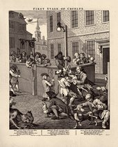 William Hogarth  The Four Stages of Cruelty: First Stage of Cruelty 1 February 1751